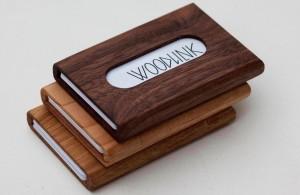 woodlink visitekaartjes houder houten portemonnee cardholder duurzaam cadeau voor hem relatiegeschenken met logo