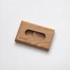 Woodlink meelbes houten portemonnee handgemaakt in nederland van duurzaam hout