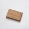 Woodlink meelbes houten portemonnee vegan pasjeshouder