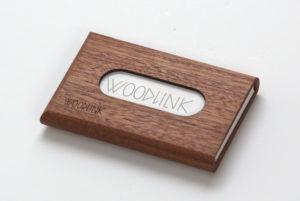 woodlink visitekaartjeshouders pasjeshouders houten portemonnee card holder duurzaam cadeau voor hem mahogany mahonie