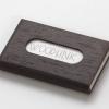 woodlink visitekaartjeshouder pasjeshouder houten portemonnee card holder duurzaam cadeau voor hem wenge