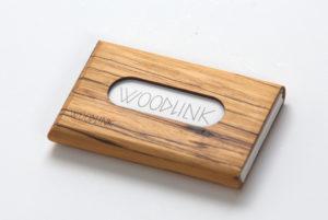 woodlink visitekaartjeshouders pasjeshouders houten portemonnee card holder duurzaam cadeau voor hem zebrawood zebrano