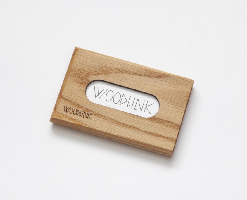 woodlink visitekaartjeshouder pasjeshouder houten portemonnee card holder duurzaam eiken oak