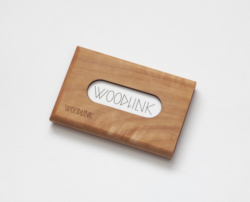 woodlink visitekaartjeshouder pasjeshouder houten portemonnee card holder duurzaam meelbes whitebeam