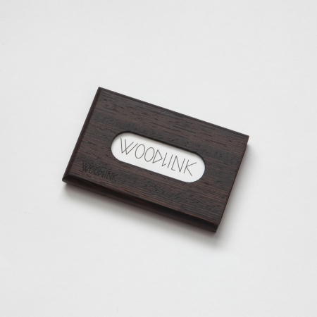 woodlink visitekaartjeshouder pasjeshouder houten portemonnee card holder duurzaam wenge