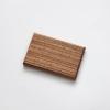 Woodlink zebrano houten portemonnee vegan pasjeshouder