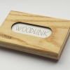 woodlink visitekaartjeshouder pasjeshouder houten portemonnee card holder duurzaam cadeau voor hem ash essen