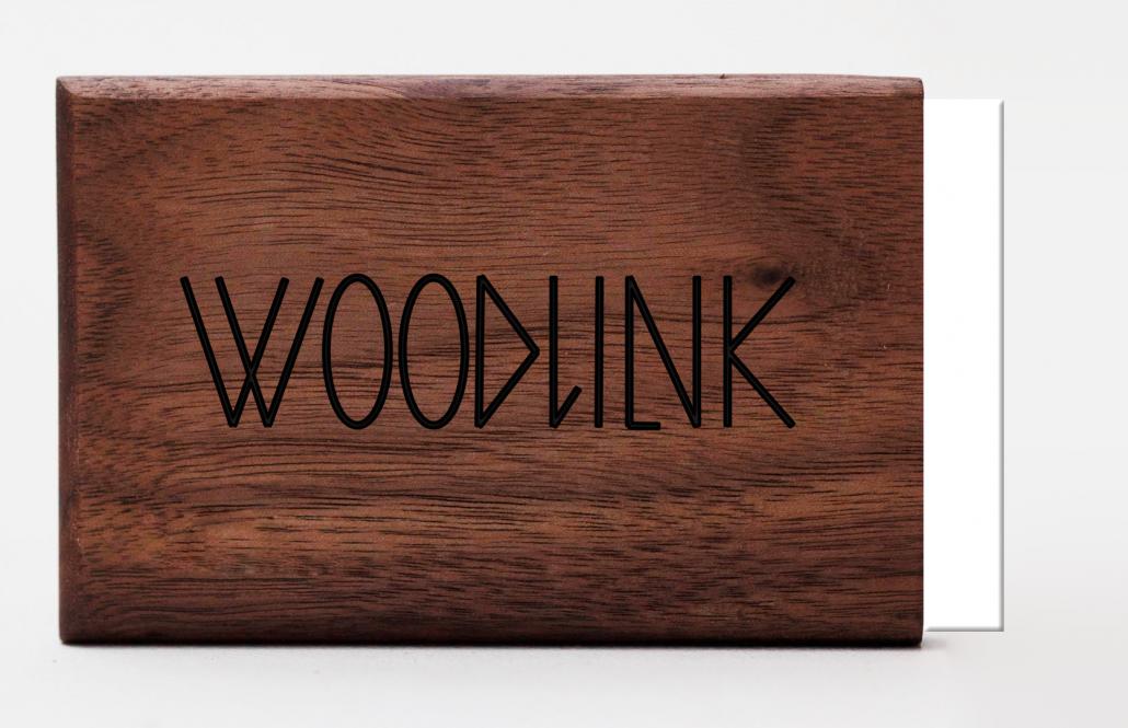 engraving logo woodlink visitekaartjeshouder portemonnee graveren pasjeshouder maatwerk