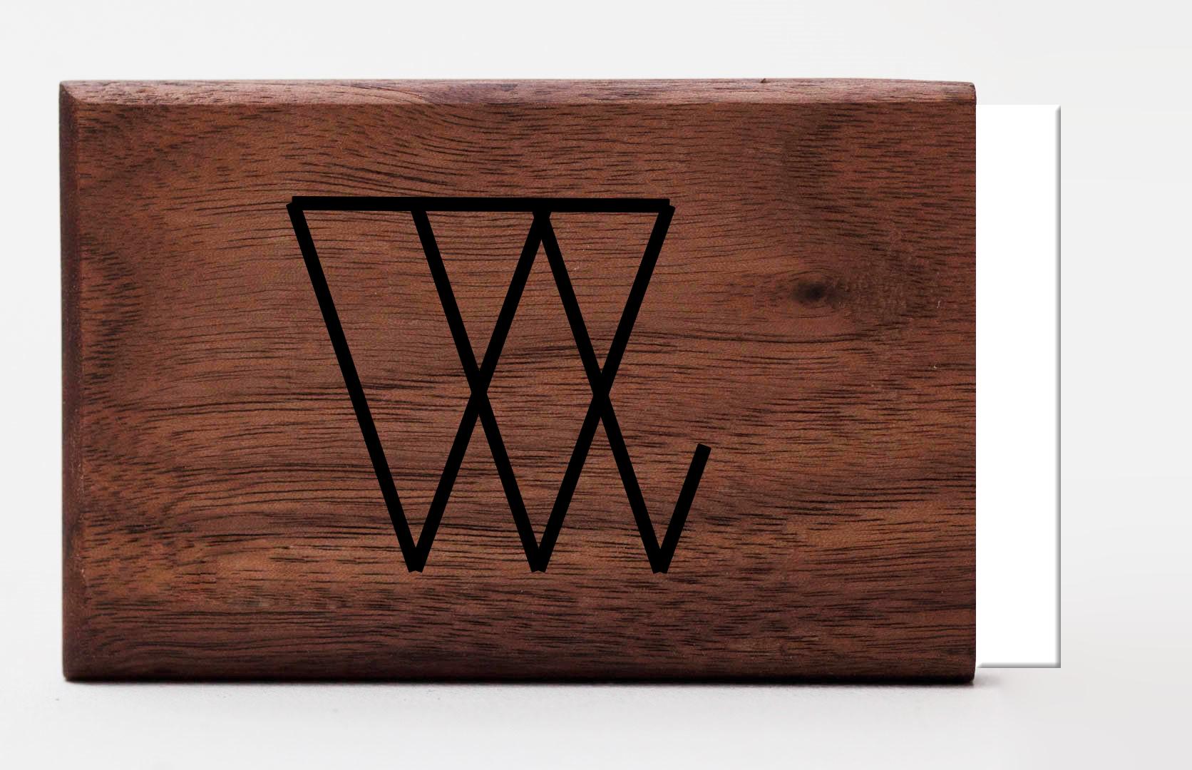 engraving logo graveren woodlink visitekaartjeshouder portemonnee pasjeshouder maatwerk