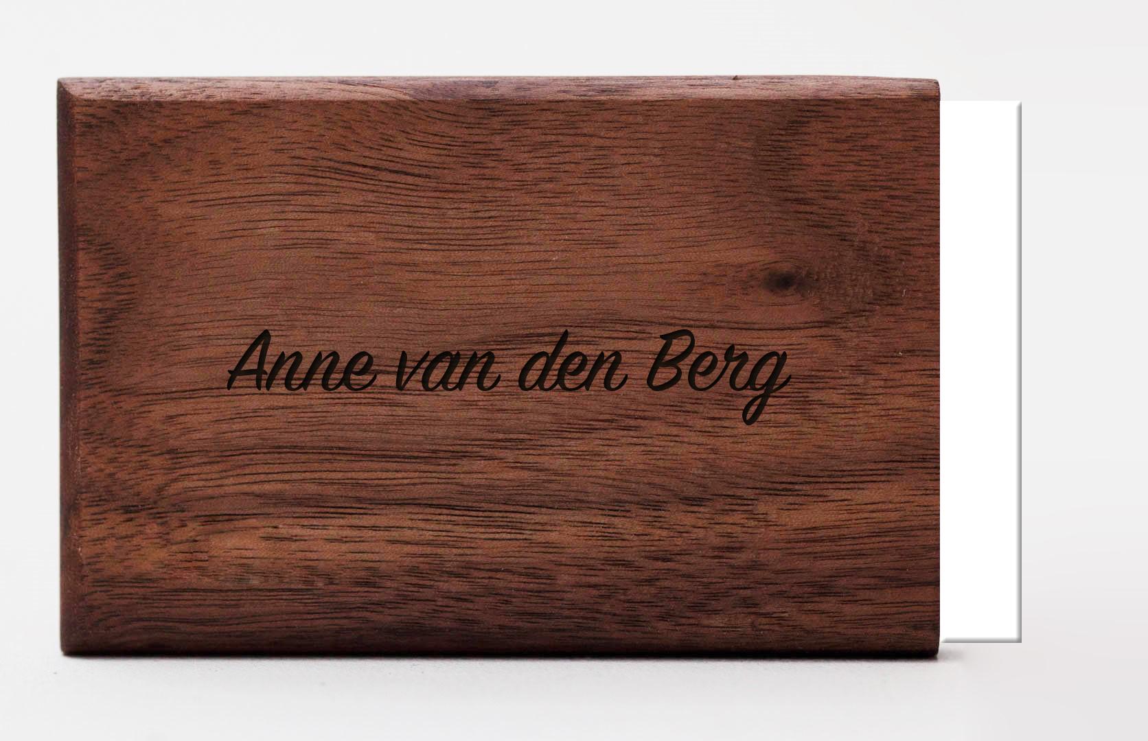 portemonnee graveren woodlink hout personaliseren