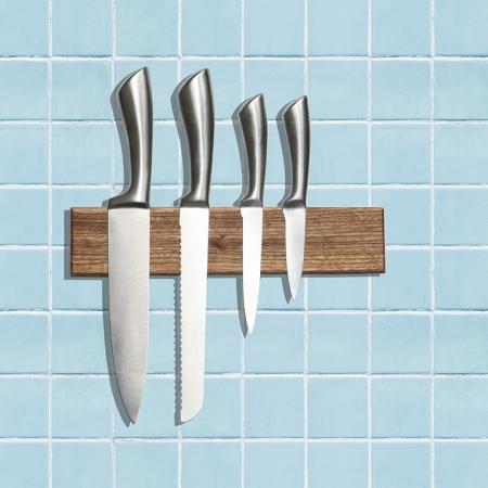 houten messenplank magneet wooden magnetic knife board zebrano producten van duurzaam hout milieuvriendelijke artikelen