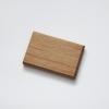 woodlink visitekaartjeshouder pasjeshouder houten portemonnee card holder duurzaam mahogany mahonie eiken oak