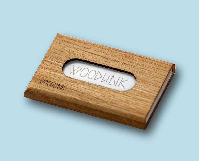 woodlink quercus eiken portemonnee